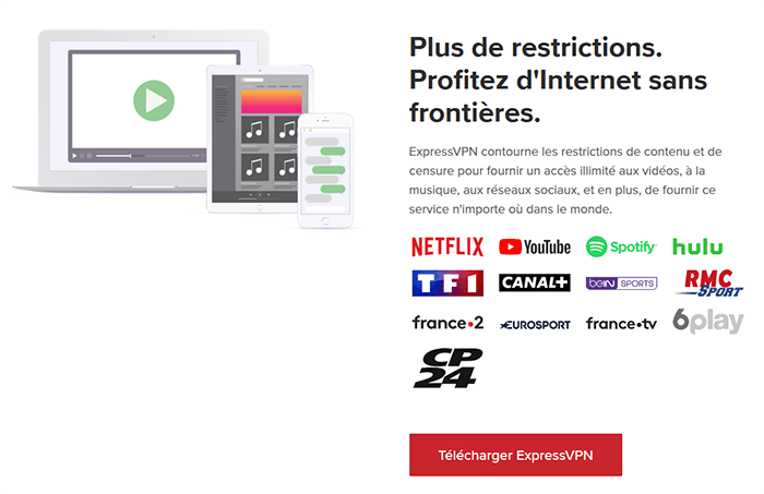 Streaming avec ExpressVPN