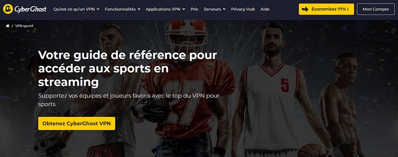 Streaming sport avec CyberGhost