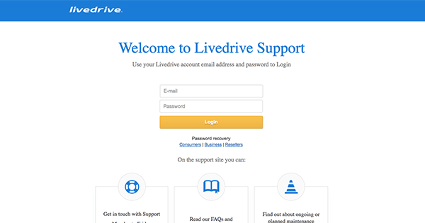 support livedrive