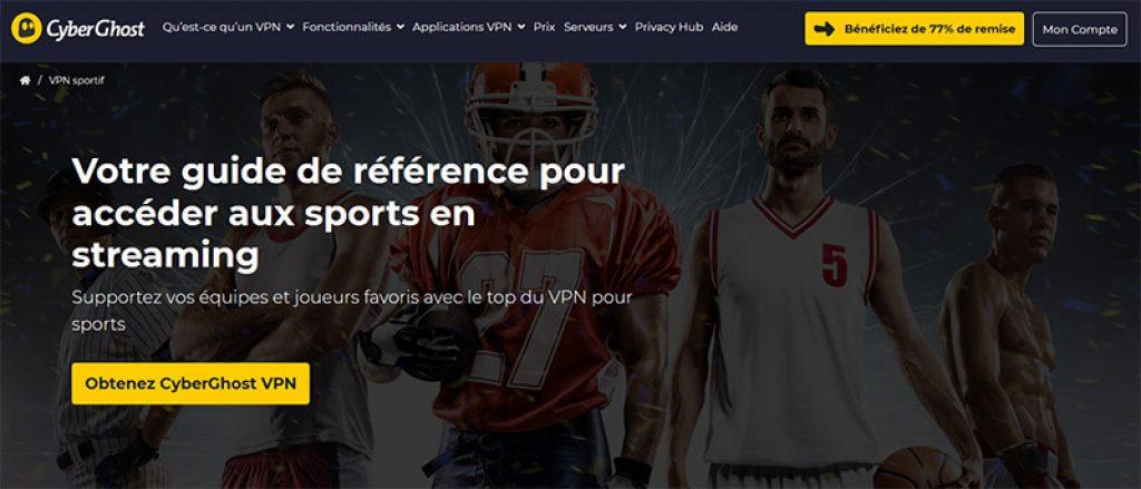Regarder du Sport CyberGhost