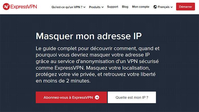 Cacher adresse IP ExpressVPN