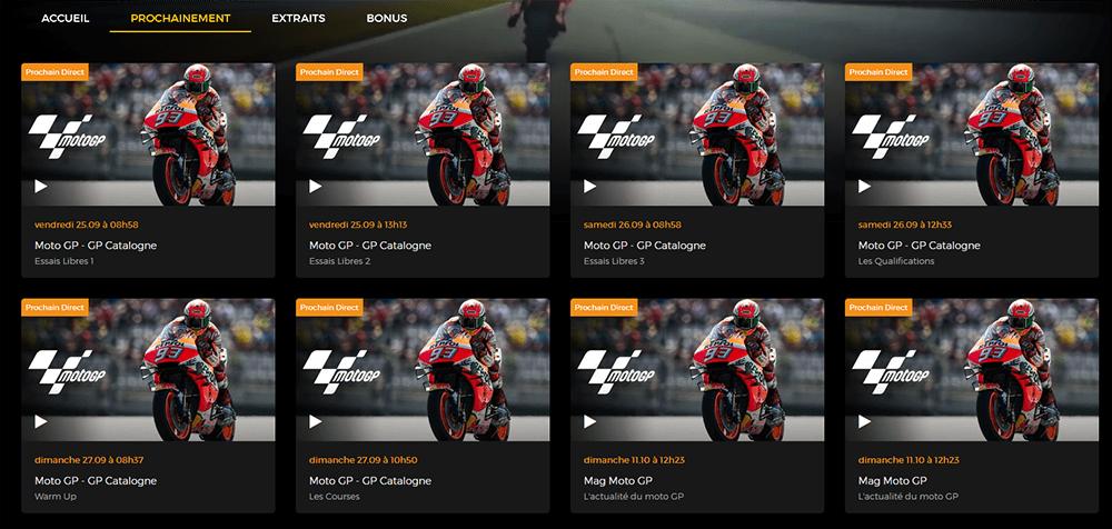Programme RTBF GP Catalogne MotoGP