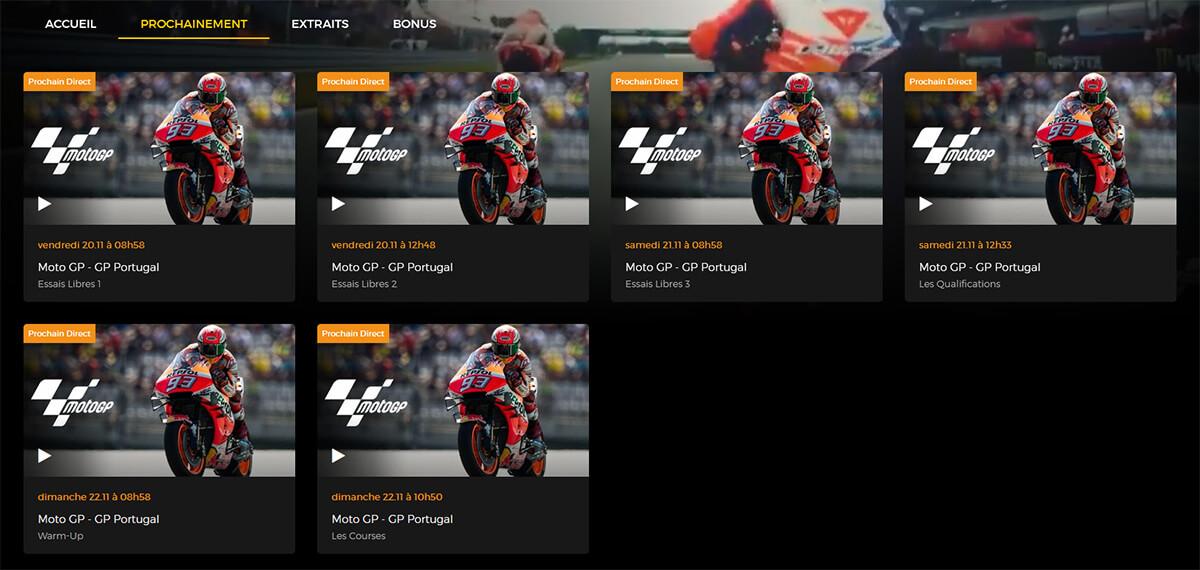 Programme RTBF GP Portugal MotoGP
